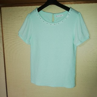 シマムラ(しまむら)のペパーミントグリーンのカットソー(Tシャツ(半袖/袖なし))