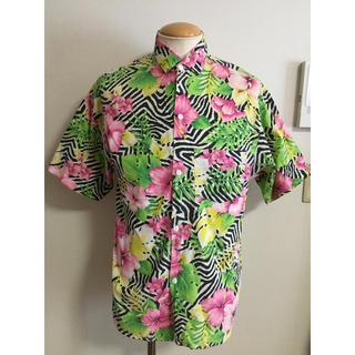 サンサーフ(Sun Surf)の美品 80s ビンテージ アロハ ドレス シャツ L相当 ブラック XPV (シャツ)