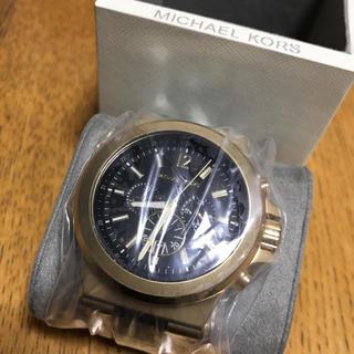 マイケルコース(Michael Kors)のMICHAEL KORS 時計 正規品 MK8445 ブラックゴールド(腕時計(アナログ))