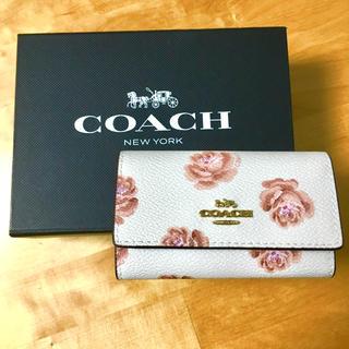COACH - 【COACH】【新品】【人気柄】コーチ 花柄6連キーケース