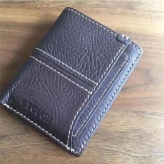 タフ(TOUGH)のタフ 財布 ブラウン 本革 イタリア レザー カードケース(折り財布)