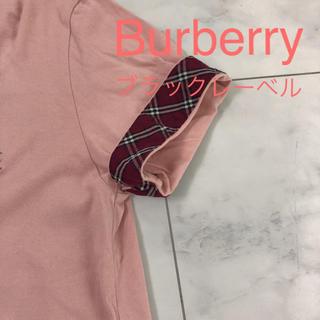 BURBERRY BLACK LABEL - バーバリーブラックレーベル Tシャツ チェック柄