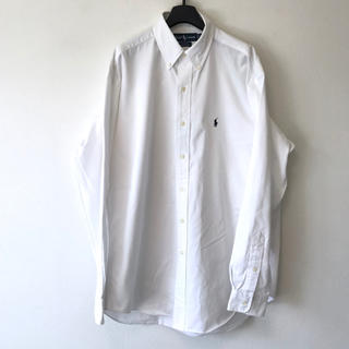 Ralph Lauren - 美品 Ralph Lauren ラルフローレン コットンツイルBDシャツ大きめM