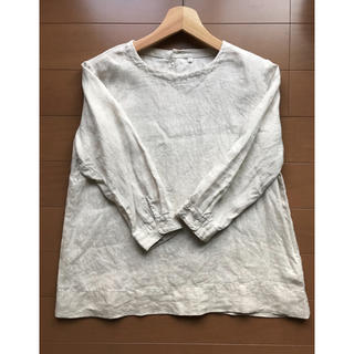 MUJI (無印良品) - 無印良品 リネン ブラウス 七分袖