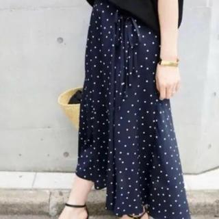 IENA - ☆サイドリボンドットスカート