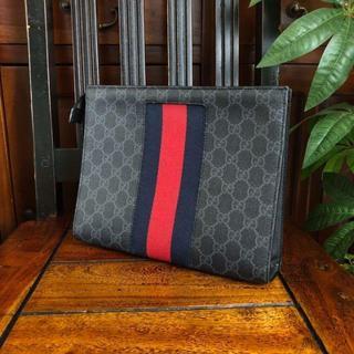Gucci - グッチ セカンドバッグ GGスプリーム グレー A97181
