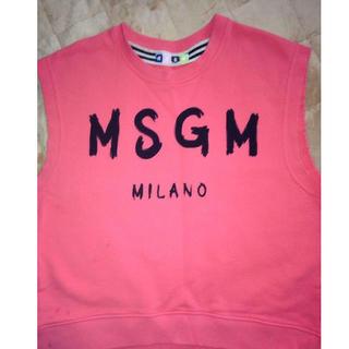 エムエスジイエム(MSGM)のMSGM ノースリーブカットソー (Tシャツ(半袖/袖なし))