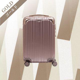 スーツケース D PVC加工 旅行 出張 デザイン性抜群 Sサイズ ゴールド(スーツケース/キャリーバッグ)