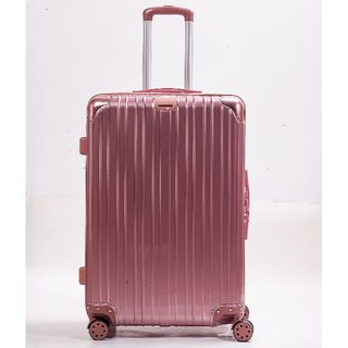 スーツケース D PVC加工 旅行 出張 デザイン性抜群 Lサイズ ピンク(スーツケース/キャリーバッグ)