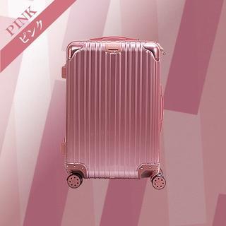 スーツケース D PVC加工 旅行 出張 デザイン性抜群 Sサイズ ピンク(スーツケース/キャリーバッグ)