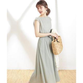 natural couture - べっ甲Dカン太ベルト涼しげワンピース