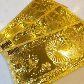 最高品質限定特価!純金24k☆1万円札3枚セット☆ブランド財布やバッグに☆