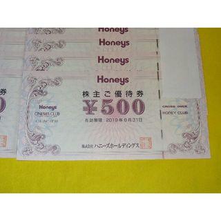 HONEYS - ハニーズ 株主優待券 6000円分 / HONEYS 株主優待 割引券