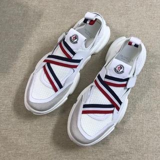 MONCLER - MONCLER モンクレール 靴/シューズ スニーカー 白、黒 42