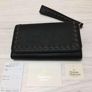 ヴィヴィアンウエストウッド(Vivienne Westwood)のヴィヴィアンウエストウッド スマホ収納 長財布 定価30240円 黒(財布)