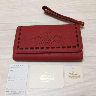 ヴィヴィアンウエストウッド(Vivienne Westwood)のヴィヴィアンウエストウッド スマホ収納 長財布 定価30240円 赤(財布)