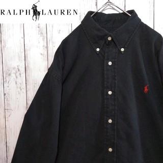 Ralph Lauren - 【希少】Ralph Lauren ワンポイント 刺繍ロゴ BD チノシャツ