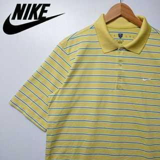 ナイキ(NIKE)の534 NIKE 胸刺繍 ストライプ ポロシャツ タイガーウッズ サラサラ(ポロシャツ)