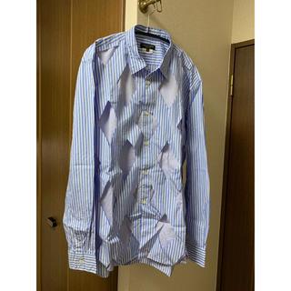 COMME des GARCONS HOMME PLUS - コムデギャルソンオムプリュス くり抜きチェックシャツ
