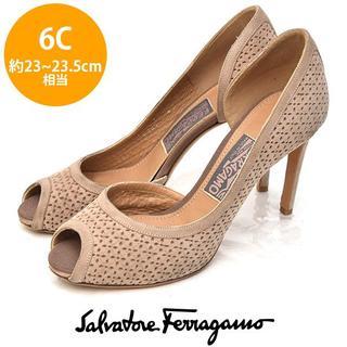 Salvatore Ferragamo - サルヴァトーレフェラガモ パンチング パンプス 6C(約23-23.5cm)