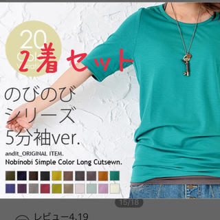アンドイット(and it_)のand itのびのびTシャツ☆2着セット(Tシャツ(半袖/袖なし))
