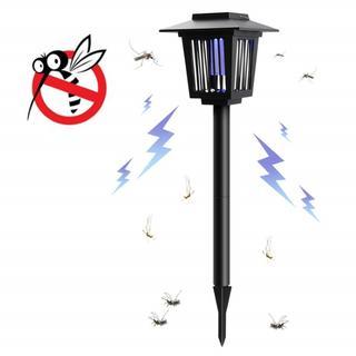 蚊取り ライト 電撃殺虫器 ソーラーライト