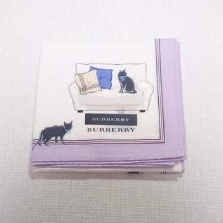 BURBERRY - 新品 バーバリー  BURBERRY ネコ 大判 ハンカチ 猫