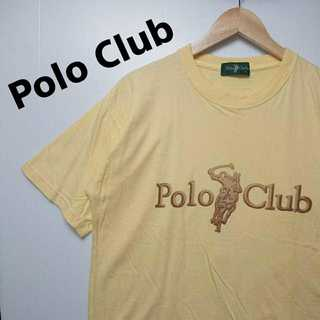 ポロクラブ(Polo Club)の570 ポロクラブ デカロゴ Tシャツ 薄黄色 Polo Club カワイイ(Tシャツ/カットソー(半袖/袖なし))