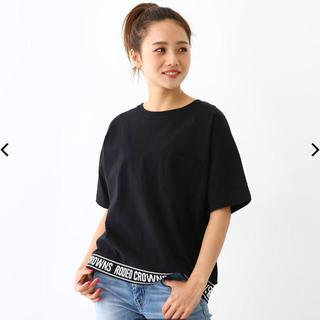 ロデオクラウンズワイドボウル(RODEO CROWNS WIDE BOWL)のロデオクラウンズ  裾リブロゴTシャツ Sサイズ(Tシャツ(半袖/袖なし))