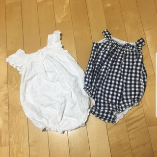 babyGAP - 夏物 ロンパース 70 babyGAP  オールドネイビー