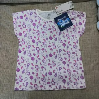 ユニクロ(UNIQLO)のユニクロ 新品 Tシャツ 120 スヌーピー ベル(Tシャツ/カットソー)