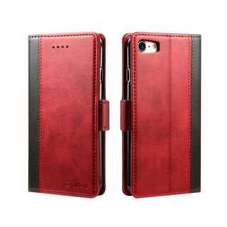シンプル バイカラー iPhone8 iPhone7 手帳型 カバー