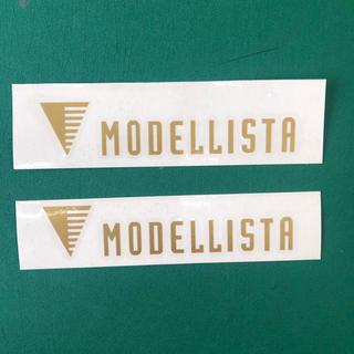 モデリスタ  ステッカー ゴールド