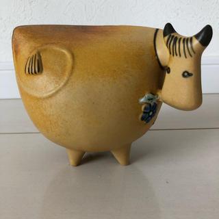 リサラーソン(Lisa Larson)のリサラーソン  牛  ヴィンテージ  レア  置物(置物)