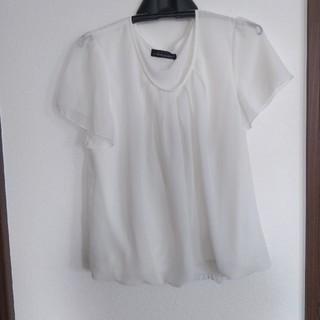 シマムラ(しまむら)の白トップス(カットソー(半袖/袖なし))