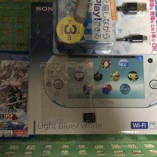 PlayStation Vita - psvita、Vita用メモリーカード、ケーブル、PSO2ソフト