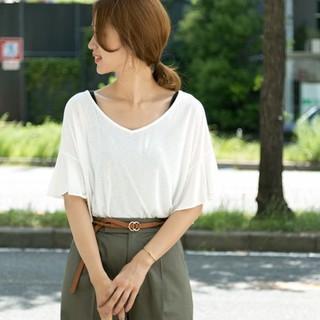 DOORS / URBAN RESEARCH - 新品タグ付き♡アーバンリサーチドアーズのフリルスリーブTシャツ ホワイト
