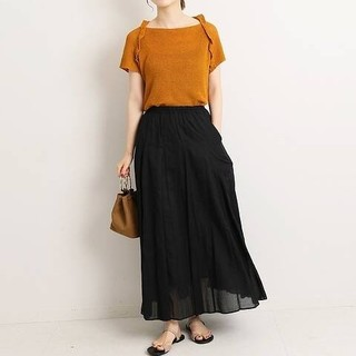 IENA - 近日削除 コットンボイルギャザースカート
