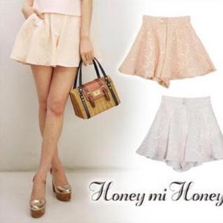 Honey mi Honey - Honey mi Honey フレアショートパンツ 白
