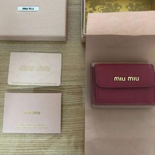 miumiu - miu miu ミュウミュウ 三つ折り財布