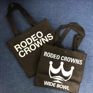ロデオクラウンズワイドボウル(RODEO CROWNS WIDE BOWL)のRODEO CROWNS/旧デザイン小ショッパー2枚SET/RCWB(ショップ袋)