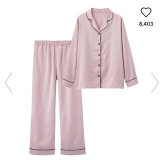 新品☆GU サテンパジャマ(長袖)ピンク M