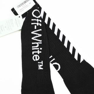 オフホワイト(OFF-WHITE)のOFF-WHITE オフホワイト DIAG MID ブラックソックス (ソックス)