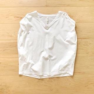 シマムラ(しまむら)のトップス プルオーバー 白 M(カットソー(半袖/袖なし))