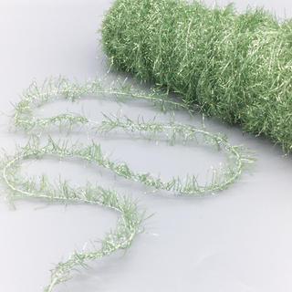 しなやか触り心地の「KTモール」白芯グリーン  80g(生地/糸)
