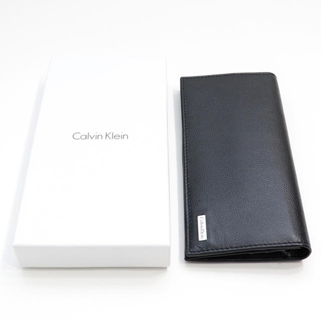Calvin Klein(カルバンクライン)の新品 カルバンクライン 財布 二つ折り 長財布 メンズ レザー 大容量 ブラック メンズのファッション小物(長財布)の商品写真
