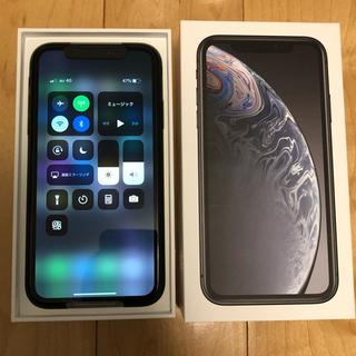 iPhone - iphoneXR 64GB ブラック SIMロック解除済み