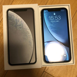 Apple - iPhone XR 64GB ホワイト SIMロック解除済み