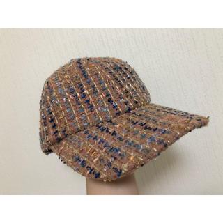 リリーブラウン(Lily Brown)の【送料込★美品】Lilyblown ツイードキャップ 帽子(キャップ)