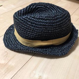 サマンサモスモス(SM2)のsamansa Mos2麦わら帽子 ストローハット カンカン帽(帽子)